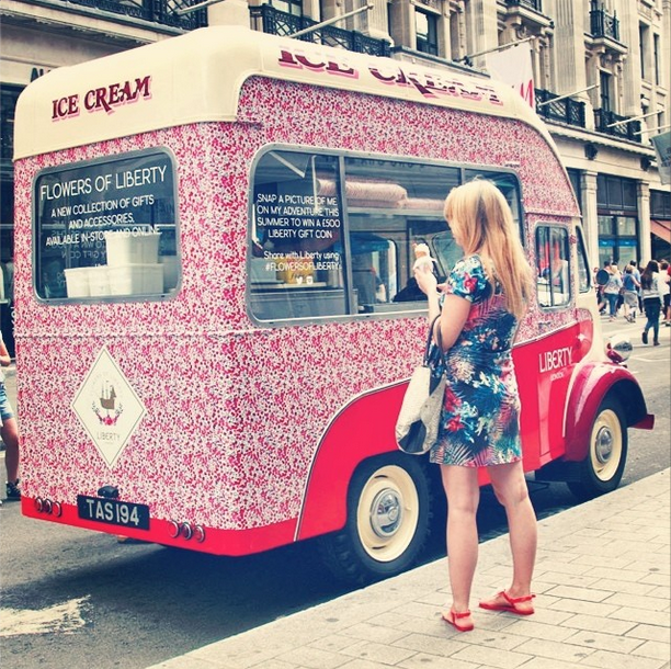 Liberty London ice cream van