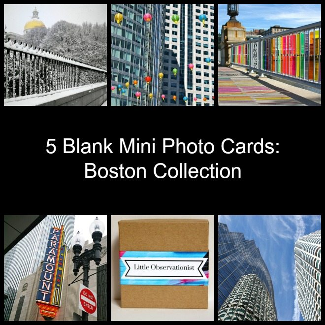 Little Observationist Mini Photo Cards - Boston Collection