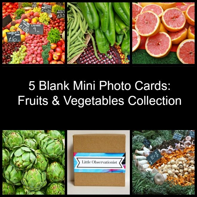Little Observationist Mini Photo Cards - Fruits and Vegetables Collections