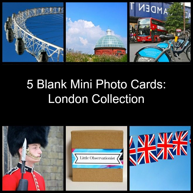 Little Observationist Mini Photo Cards - London Collection