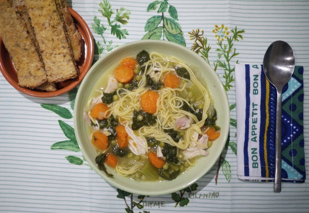 Recipe: Mom's Chicken Soup with Vegetables by Stephanie Sadler, Little Observationist