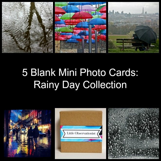Little Observationist Mini Photo Cards - Rainy Day Collection