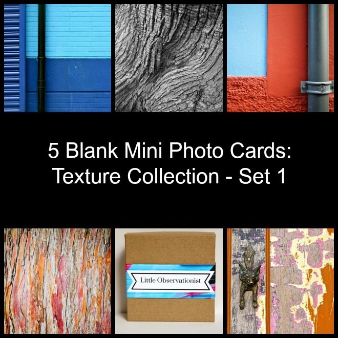Little Observationist Mini Photo Cards - Texture Collection - Set 1