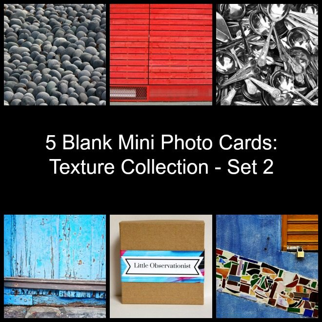 Little Observationist Mini Photo Cards - Texture Collection - Set 2