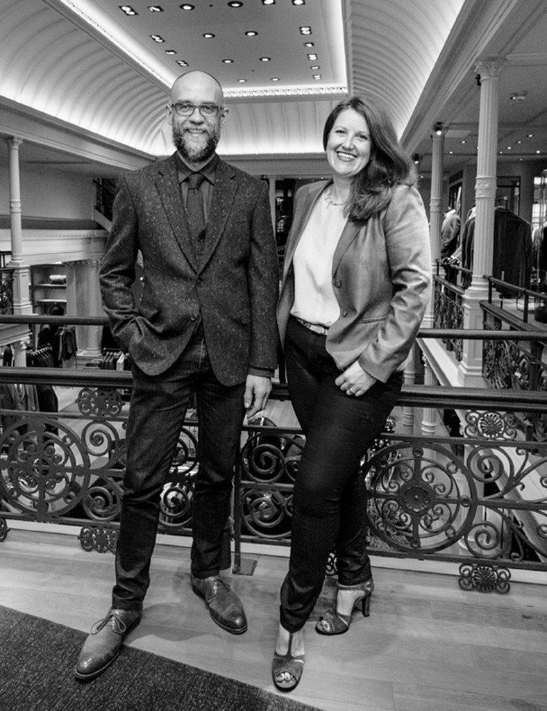Deborah Carre and James Ducker. Photocredit Andy Barnham