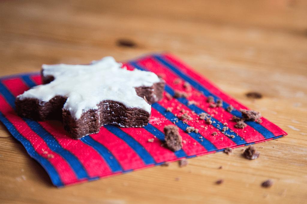 Snowflake Brownie Cookies by Stephanie Sadler